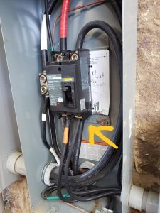 Double tapped breaker (Only one wire allowed per breaker) - Safety hazard