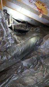 Strange approach to adding attic insulation.