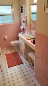 1950's pink bathroom