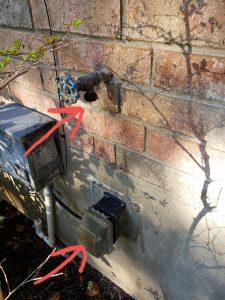 Electrical outlet below a water Spigot - Safety Hazard