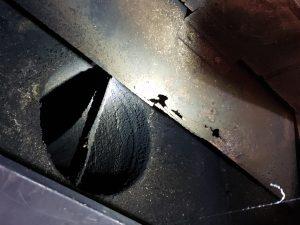 Dirty Chimney Flue, Fire Safety Hazard